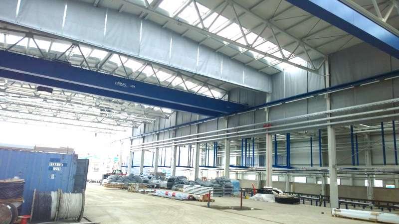 CFL Luxembourg | Luxemburg • 4 roller smoke barriers (drop length 2 m), 800 m² rigid smoke barrier. Also 2000 m² Proline, 90 x Leo-Gent_double 2.50 x 2.50 m