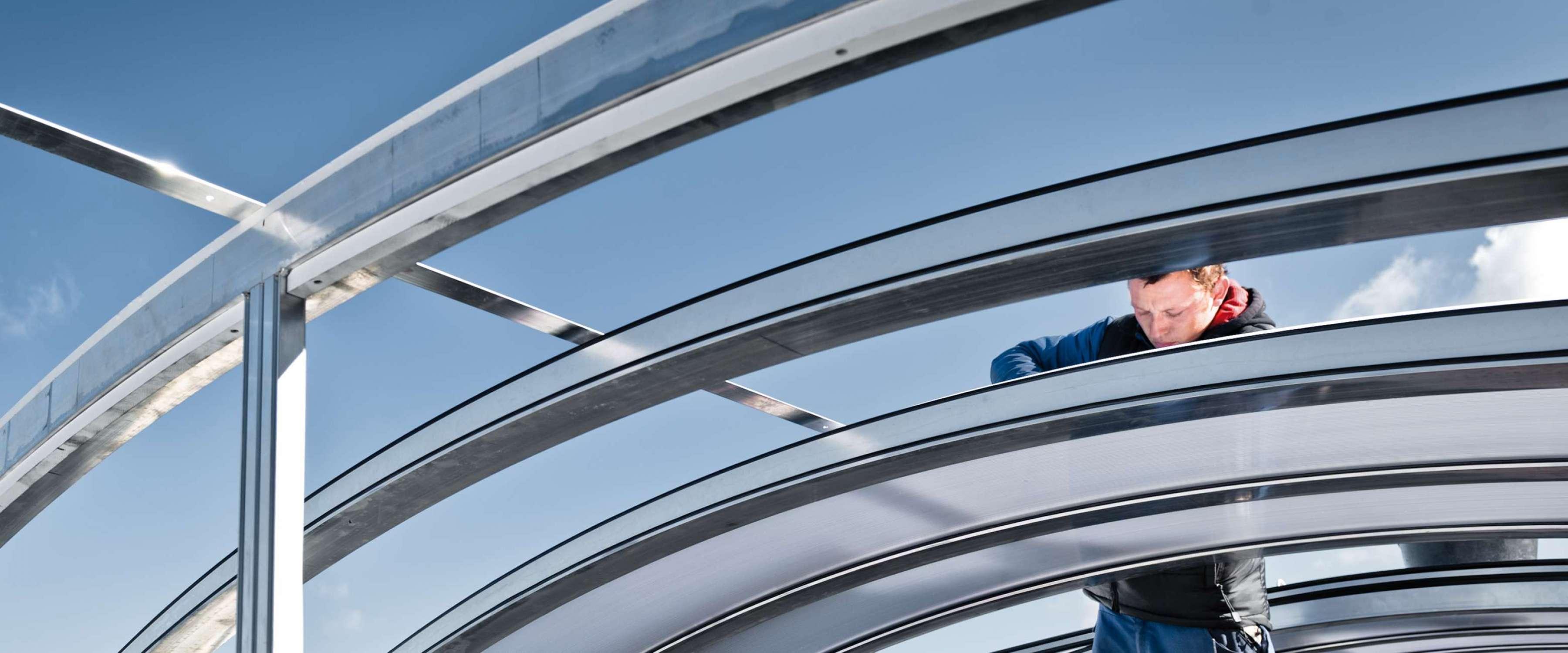 Ablach salonu/Spor salonu | Mengen • 1,50 ve 6,00 metre arası herhangi bir uzunluktaki standart yapı genişlikleri esnek kullanım olanakları sunar.