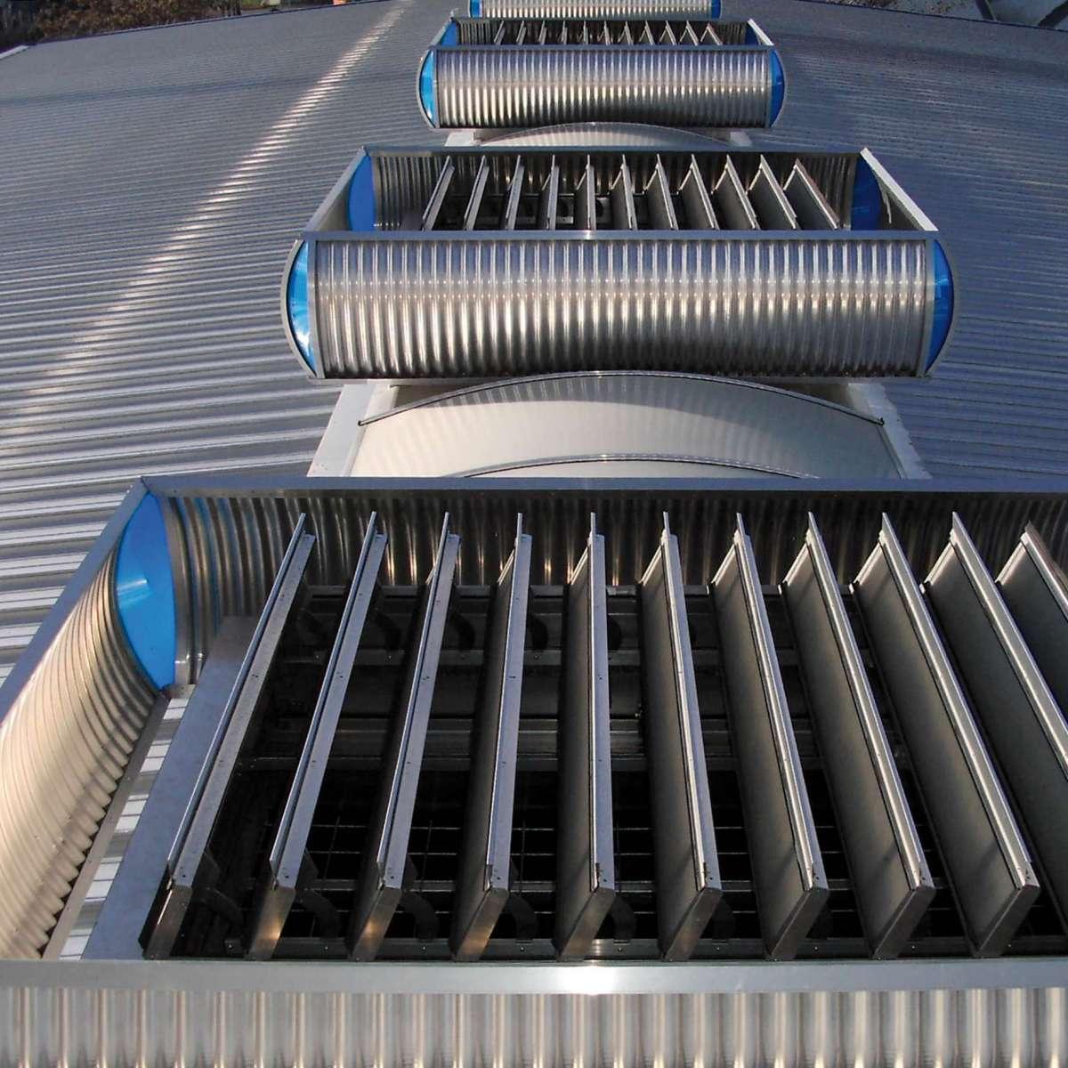 Alcan Singen GmbH  | Singen • 102 multi-purpose ventilators integrated over 800 m Topline, 2.50 m wide