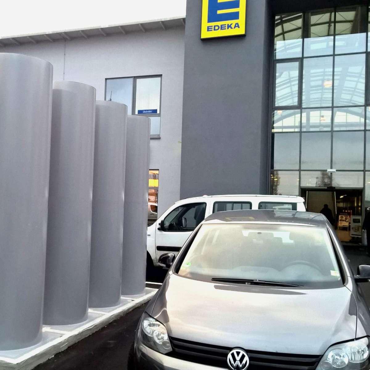 Max Center Regenstauf | Regenstauf • Edeka supermarket 1 x Taurus 45,000m³/h, air supply via louvred ventilator Lyra_A incl. insect protection grating. Underground garage 4 x Taurus 13,000 m³/h, air supply via doors and windows.
